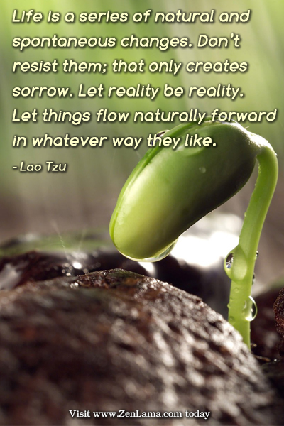 Daily Inspiration Quote: Life is a series of natural and spontaneous changes....