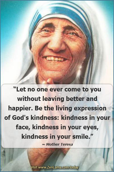 Mother Teresa, Daily Inspiration Quote via zenlama.com